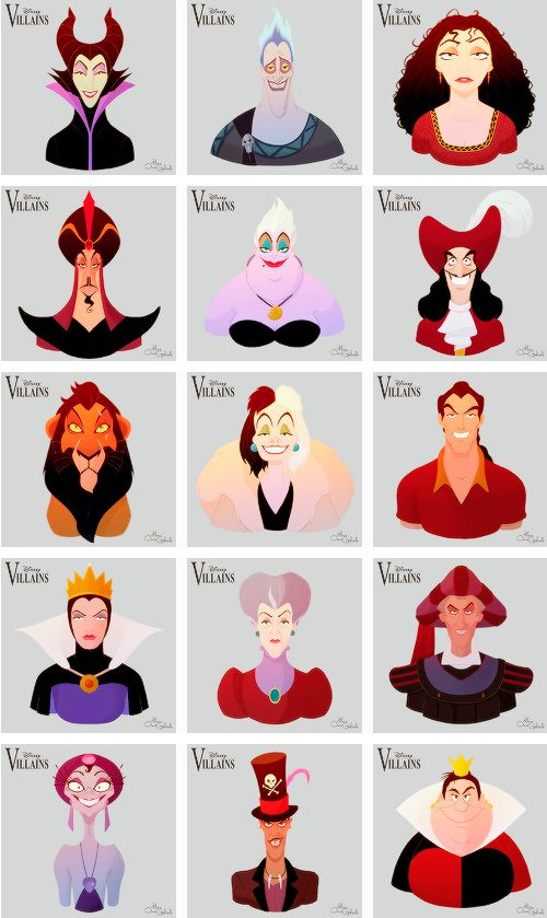 Disney Villains, by MarioOscarGabriele