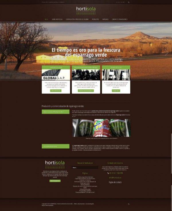 Pagina web realizada por Espinapez para Hortisola, productores de espárragos verdes de Guadalajara, España  Website by Espinapez for Hortisola, green asparagus producers of Guadalajara.  www.hortisola.es