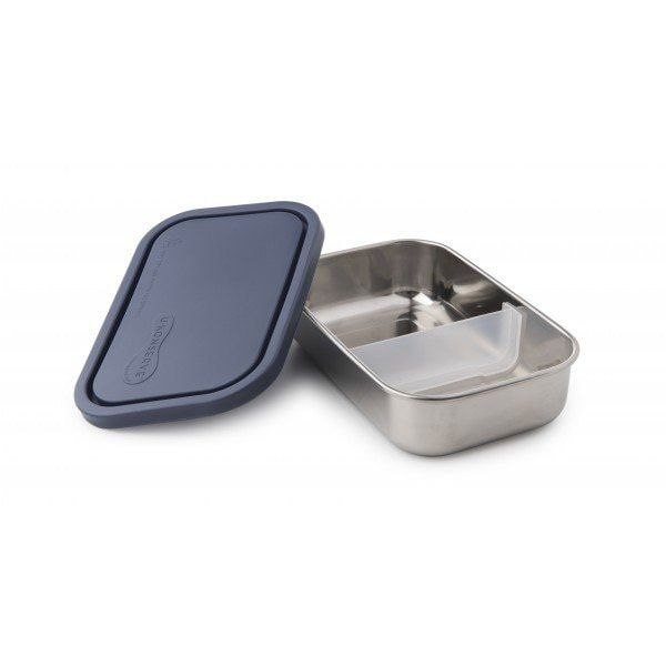 leak-proof stainless steel container with divider as a non-toxic alternative to plastic containers. This reusable bento-box-style lunchbox favorite is the perfect on-the-go solution for entrees like sandwiches, sushi and cut fruit. Also use for takeout, salad bars, and to store your leftovers in the refrigerator or to bring them to the office the next day.