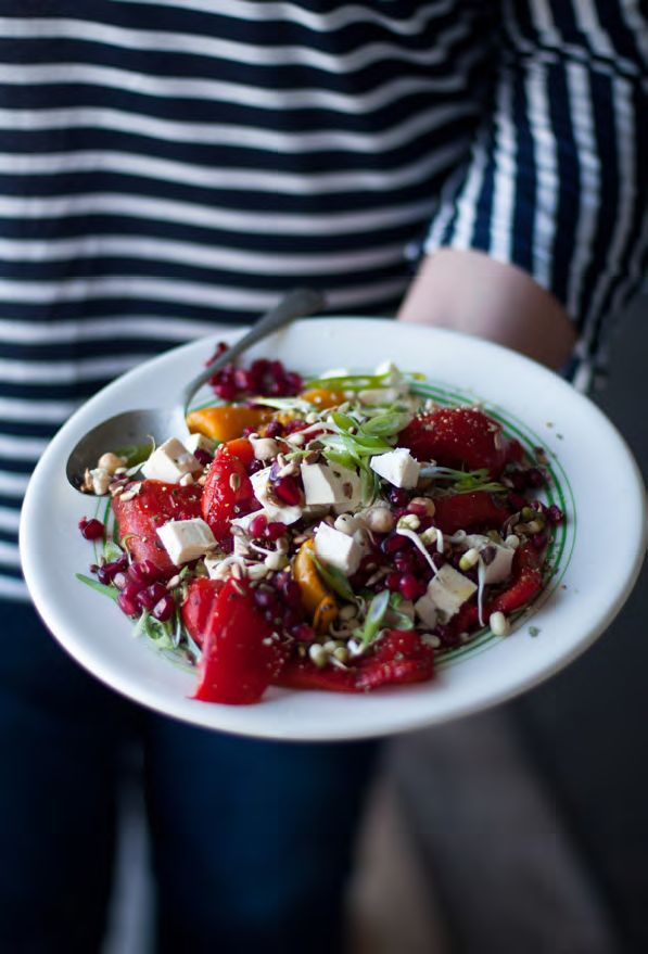 PEPPER AND POMEGRANATE SALAD