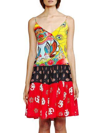 Tapestry Slip Dress