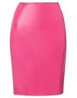Cedric Charlier Pink Leather Effect Skirt  toyastales.blogspot.com