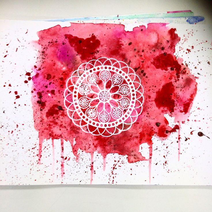 Bleeding Bluet - Watercolour Stencil Design Print