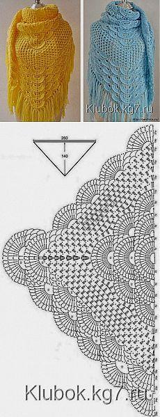BEAUTIFUL SHAWL § tanti schemi §