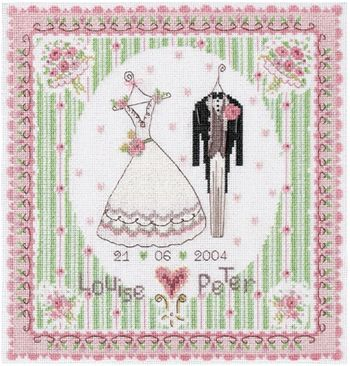 Wedding Day - free project download of this whimsical French cross stitch pattern