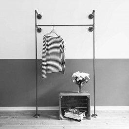 Beautiful Liebevoll in Hamburg handgefertigter Kleiderst nder bzw Ger st f r offenen Kleiderschrank aus Stahlrohr Zum