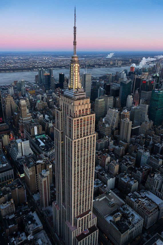 Empire State Building New York City Aerial View Midtown