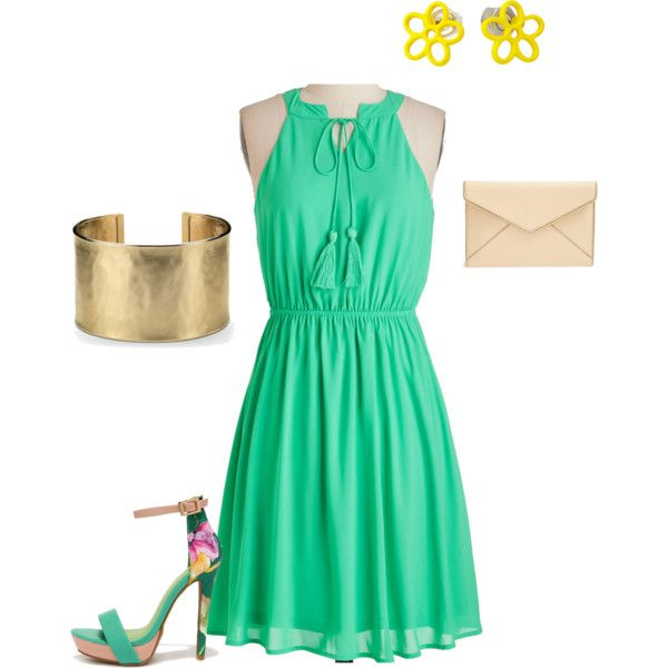 Summer Dress Style*Pear shaped Figures by muselife on Polyvore featuring Rebecca Minkoff, Blue Nile, rebeccaminkoff, BlueNile and modcloth
