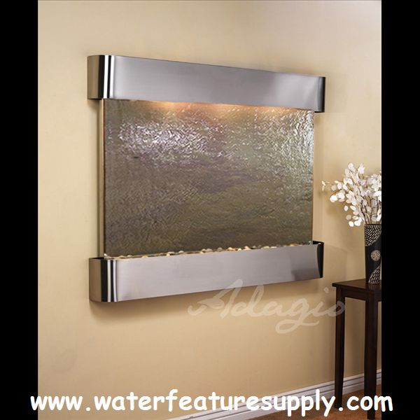 this decorative teton falls wall mounted waterfall fountain is a wonderful way to spruce up your