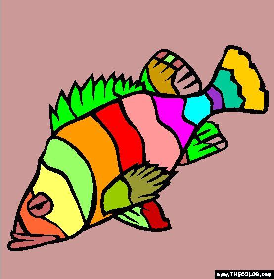 Flag Rockfish Coloring Page