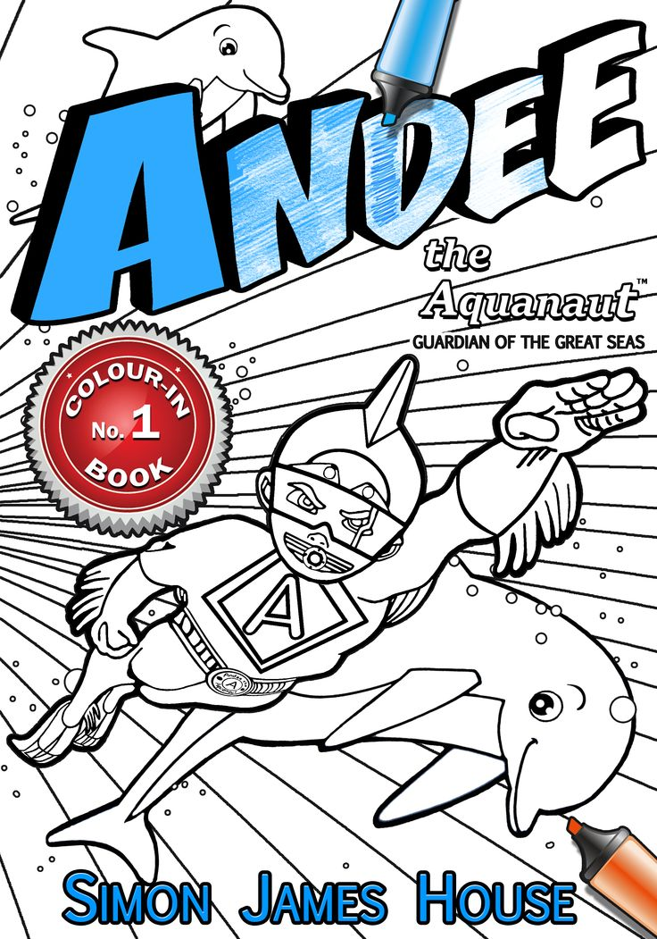 Andees Colouring In Book The Front Cover