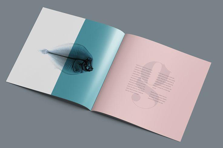 Free Square Brochure Mockup (14.67 MB) | By Wassim Awadallah on Free Design…