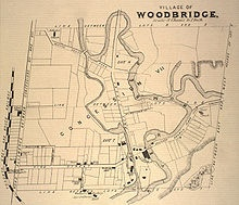 Map Of the Village Of Woodbridge Ontario