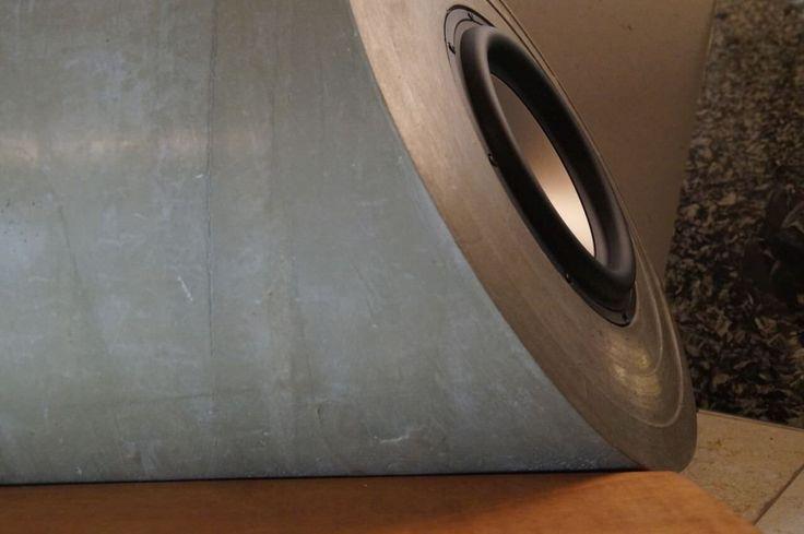 Lautsprechergehäuse aus Beton von Christoph Pesch http://www.pesch-concrete.de