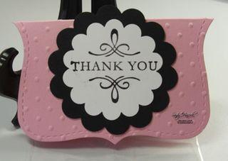 cute Thank You card or topper for cello bag