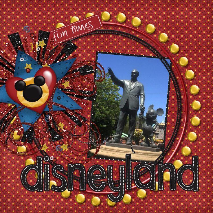 Disneyland - Scrapbook.com - Do a whole Disney album with digi scrapping!