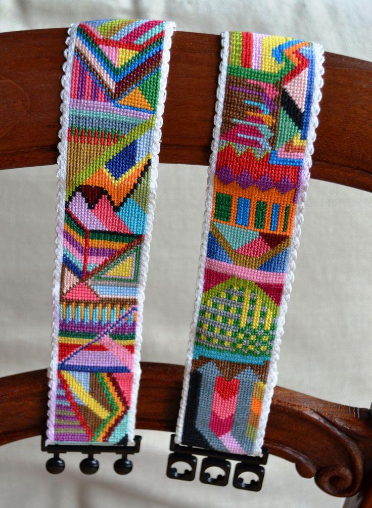 Cross stitch belt