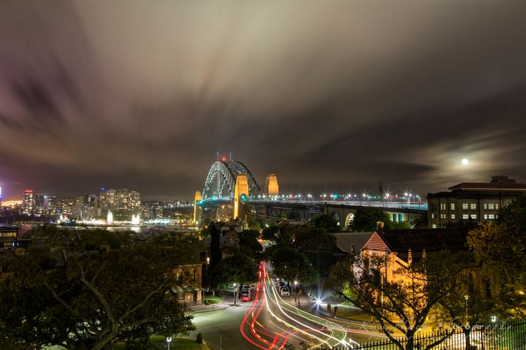 The Sydney Harbour Bridge taken from the Observatory Hill on a chilly night :)