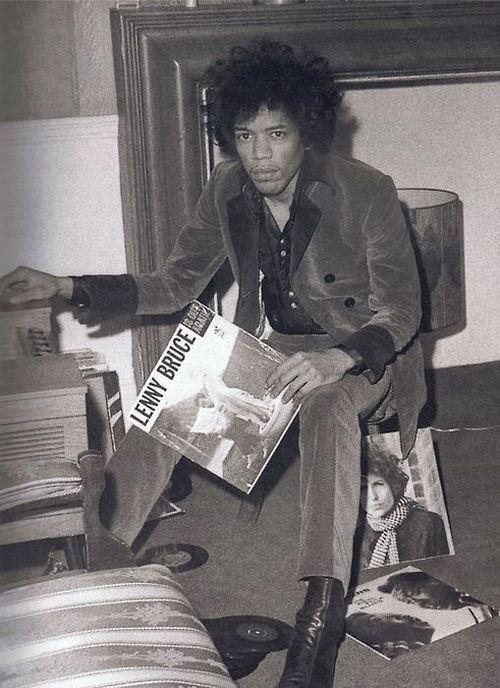 Jimi Hendrix, combining Lenny Bruce, Bob Dylan, Muddy Waters.