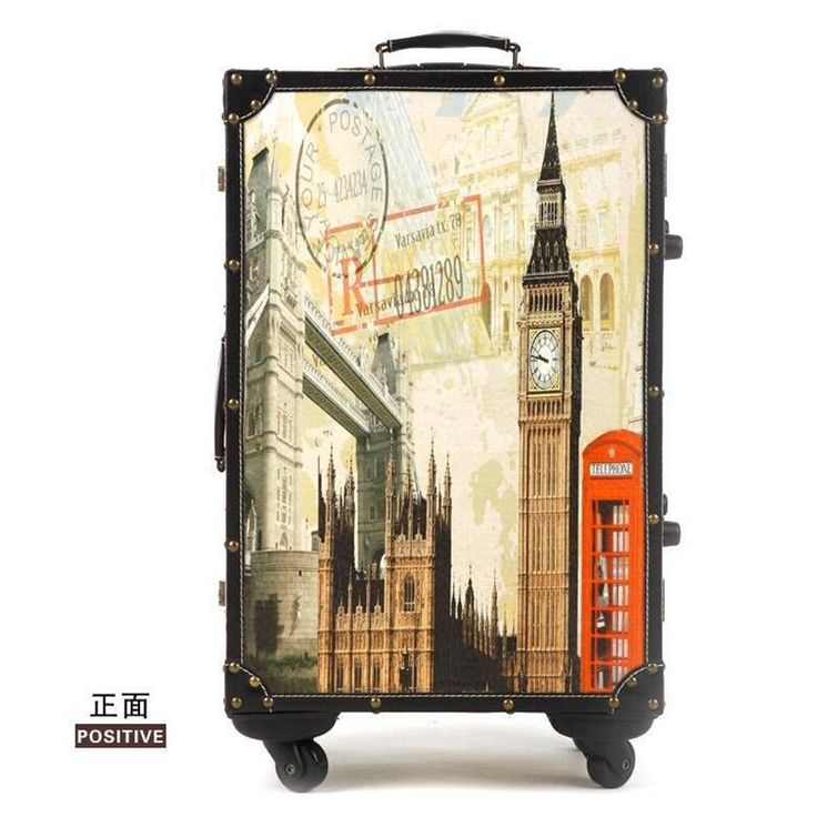 135.00$  Watch here - http://aliv0l.worldwells.pw/go.php?t=32668400044 - mala de viagem com rodinha Personalized vintage trolley luggage travel bag trend of the universal wheels luggage general 135.00$