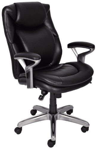 AIR Health & Wellness Eco-friendly Bonded Leather Mid-Back Office