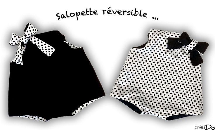 DIY Une Salopette réversible pour bébé, taille 3, 6 et 12 mois…