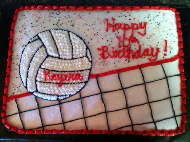 Volleyball Birthday Cake                                                       … (fun birthday cakes cookies)