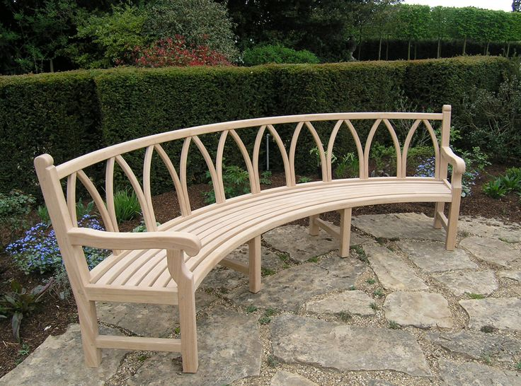 17 Curved Outdoor Benches Pinterest