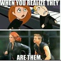 KIM POSSIBLE IS NOT EVEN CLOSE TO SCARLETT HOTNESS, BUT.....Hawkeye Is Just As Useless