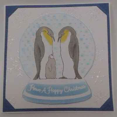Ivy Leaf Crafts: Snow Globe Penguins Hobby Art stamps poles apart
