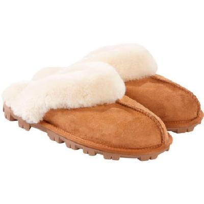 Sale! Kirkland Signature Ladies Shearling Sheepskin Slipper in Chestnut, Size 5 | Costco UK -