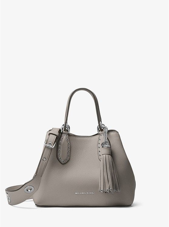 8f8dfd0130a2 MICHAEL Michael Kors Pearl Grey Brooklyn Small Leather Tote