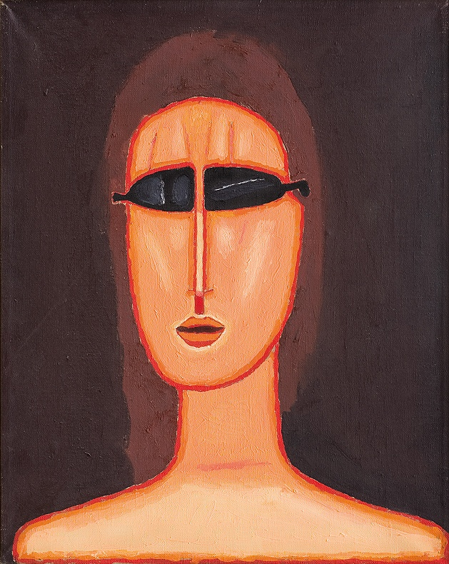 Jerzy Nowosielski | GIRL IN GLASSES, 1992 | oil on canvas