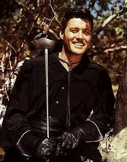 """Guy Williams - Zorro. We used to stay up till midnight at my grandmother's just to see Disney open the """"vault"""" and rerun these amazing classics. :-)"""