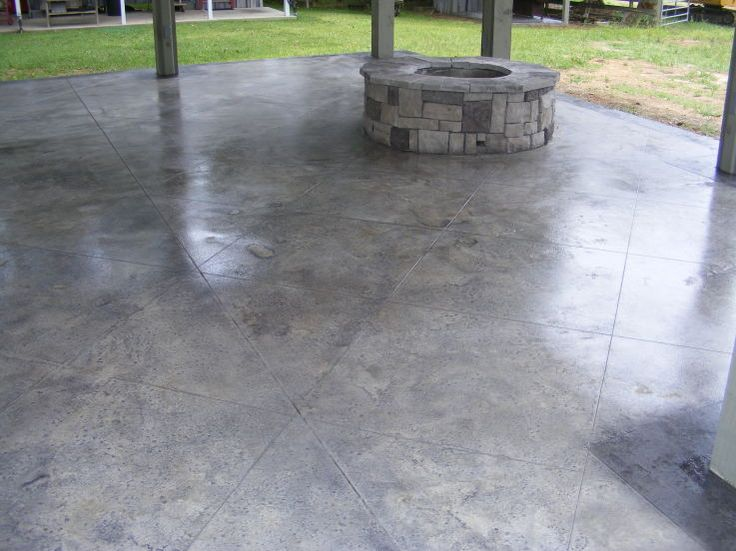 Gray Tile Decorative Concrete   Mobile, AL   Decorative Concrete Kingdom