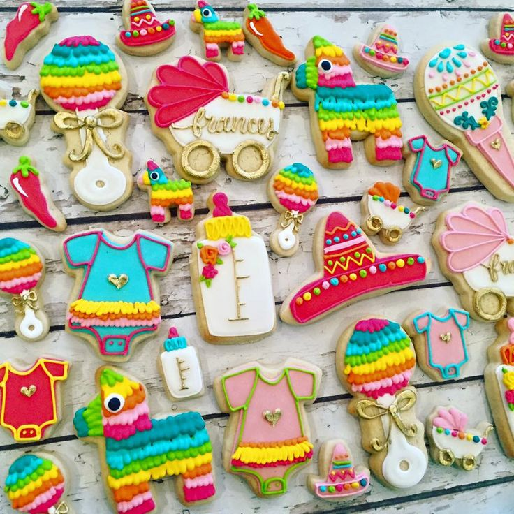 Fiesta Baby Shower Cookie Set By TheHayleyCakes On Etsy Https://www.etsy