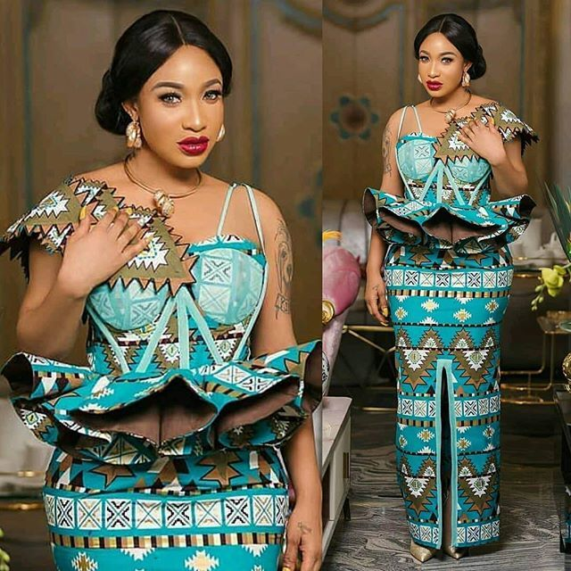 2019 Ankara Styles Most Beautiful Peplum Straight Gown Design African Fashion Ankara African Fashion Ladies Gown