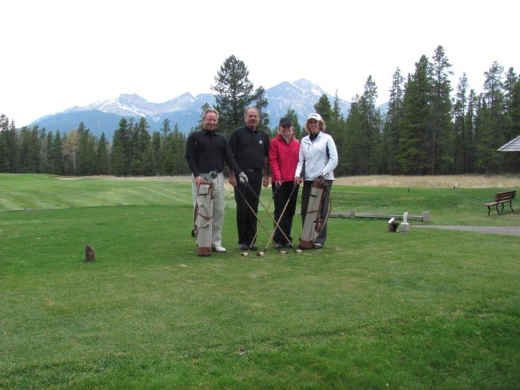 Playing a round with Heritage golf clubs.....Jasper Park Lodge golf course.