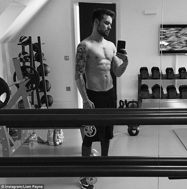 Muscle man: Liam Payne, 23, sent fans into meltdown on Friday, as he uploaded a shirtless ...
