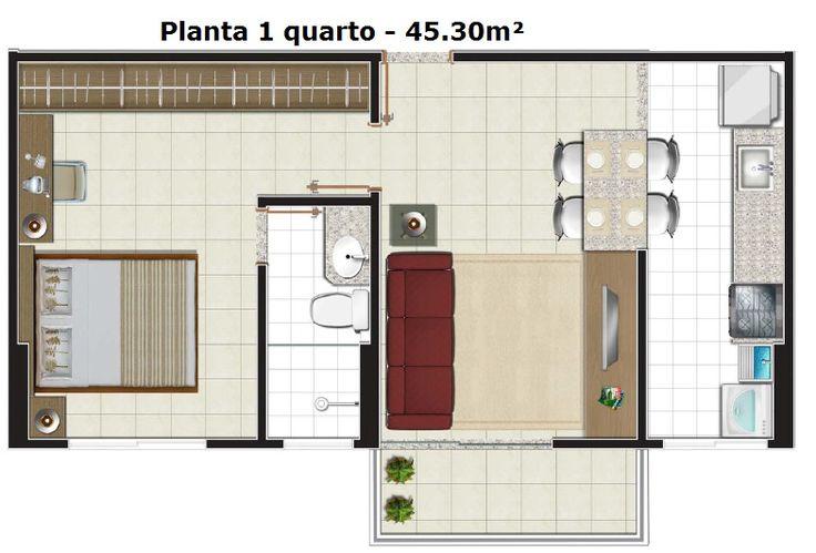 Casas pequenas 1 quarto pesquisa google cocinas - Planos cocinas pequenas ...