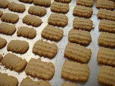 Biscoito bicho-da-seda 200 g de manteiga sem sal, em temperatura ambiente, mas ainda firme 1 xícara de açúcar 1 pitada de sal 2 ovos grandes em temperatura ambiente, batidos ligeiramente 1 xicara de farinha de trigo 1/2 xícara de leite 500 g de amido de milho (maisena) 1 colher (chá) de noz moscada ralada 1 colher (chá) de erva-doce 1 colher (chá) de canela em pó 1 colher (sopa) de casquinha de limão 1 colher (sopa) de fermento químico