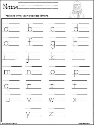 Free penguin lowercase letter writing printable.  Great for cold winter months.