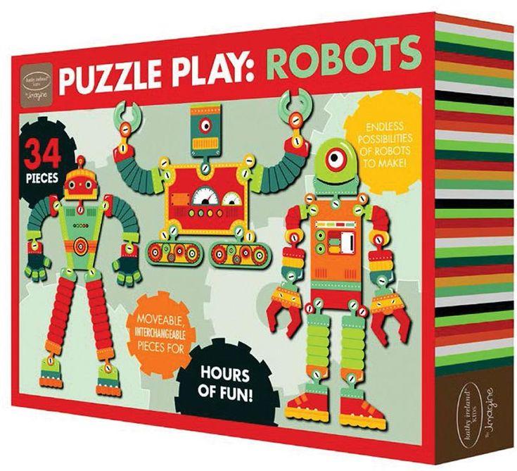 Wholesale Kathy Ireland Interchangeable Puzzle: Robot (Case of 18)