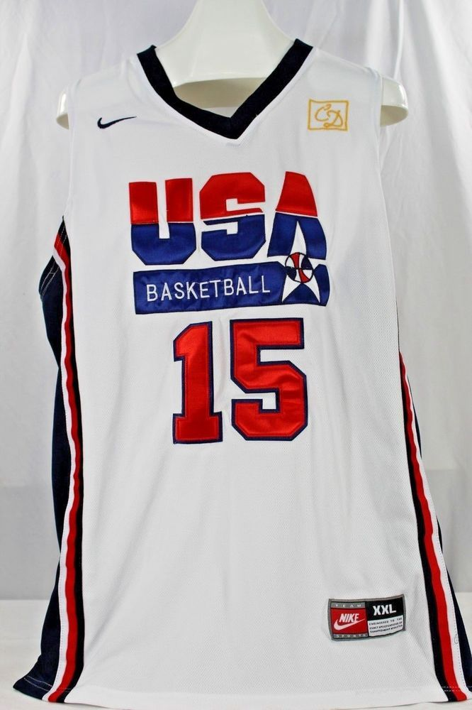3dbb87ed617d USA Basketball Jersey Magic Johnson  15 White Nike 54 2XL Dream Team 1992   Nike  DreamTeam