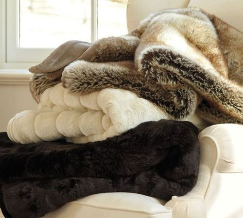 Fur blanket when its cold outside