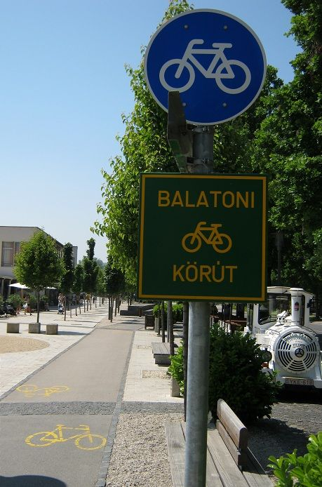 There's a bike route around Lake Balaton called 'Balaton körút'. It's 210 km long, and goes through many picturesque landscapes and lovely towns.