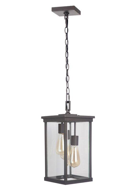 Mccombs 3 Light Outdoor Hanging Lantern Outdoor Hanging Lights