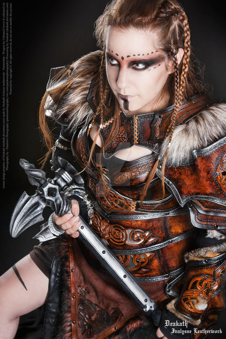 Photoshoot 2014 : Calimacil partnership 4 by Deakath.deviantart.com on @DeviantArt - Viking Makeup Idea. :)