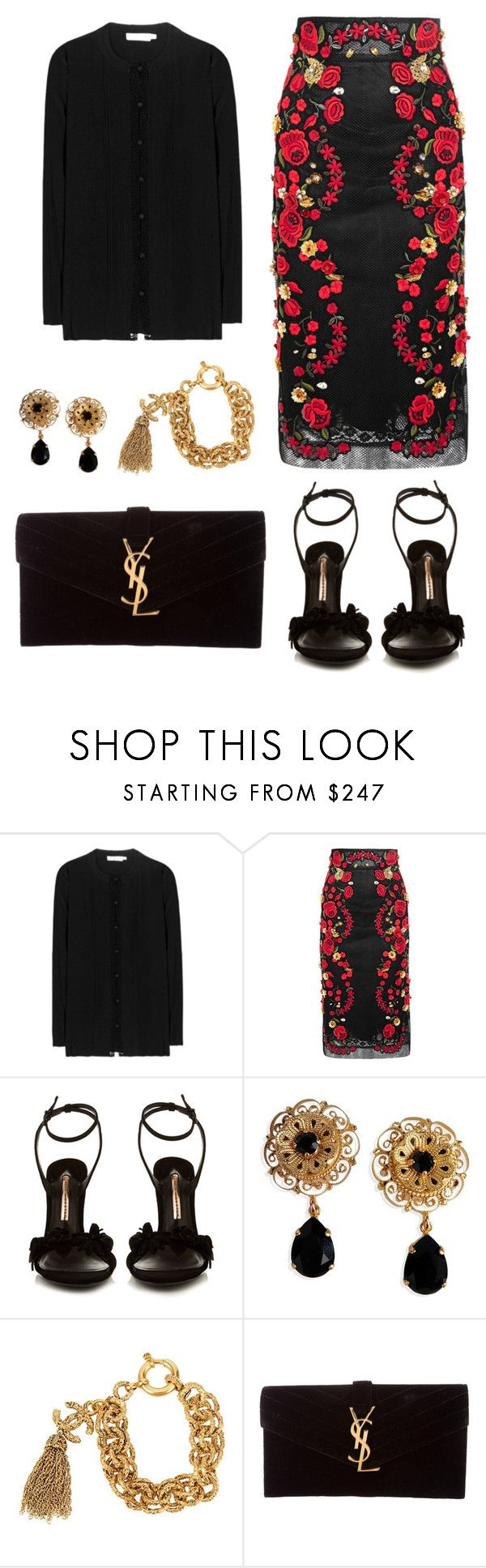 """""""Untitled #16"""" by tugces ❤ liked on Polyvore featuring Tory Burch, Dolce&Gabbana, Sophia Webster, Chanel and Yves Saint Laurent"""