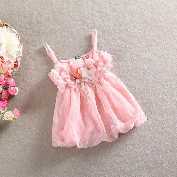 Детские новое девушки ребенок подходит шифон ремни топы + цветочные шорты 2 шт. комплект детей-наборы одежда 1-5Y